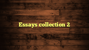 Essays collection 2